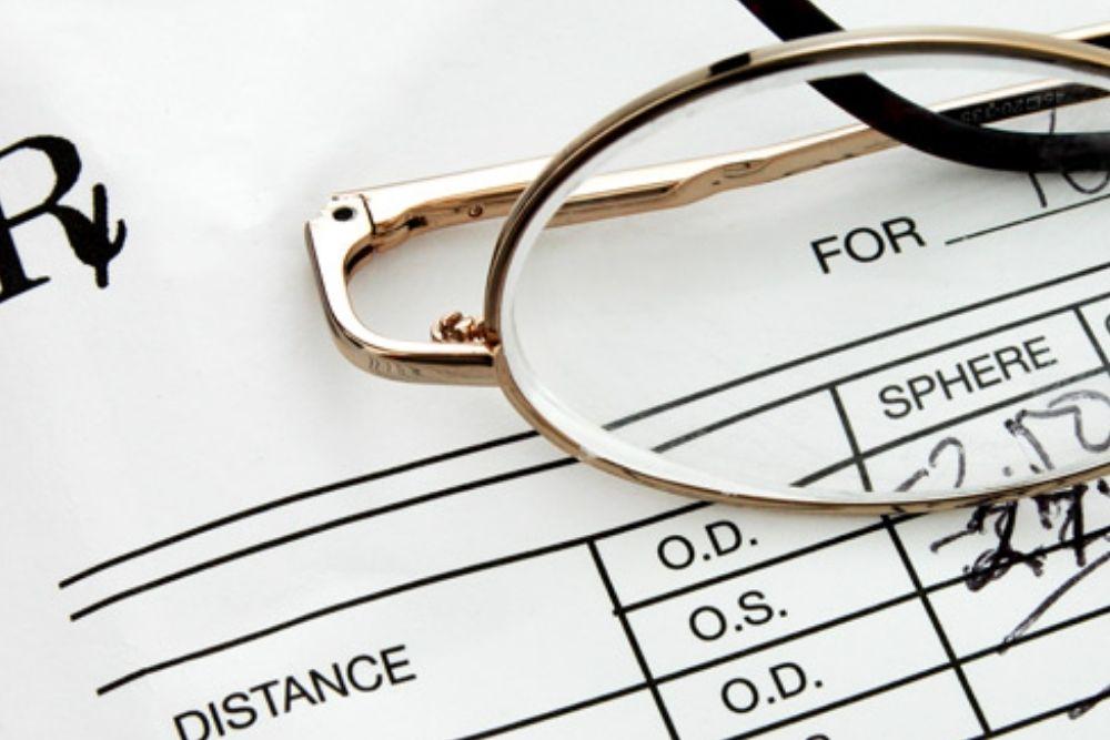 Reading Your Eyeglasses Prescription