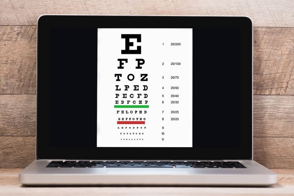 how to use home vision test when ordering glasses online