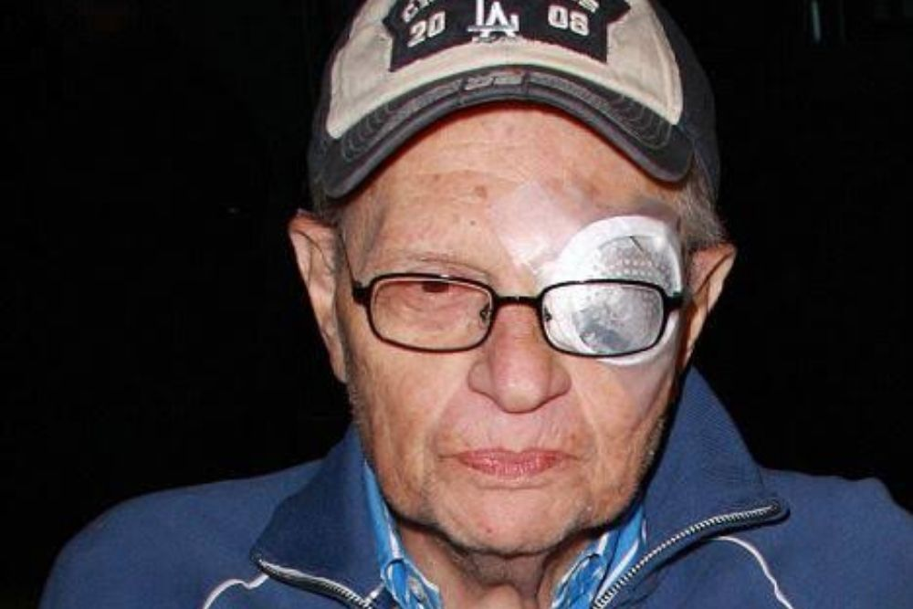 Larry King after cataract surgery
