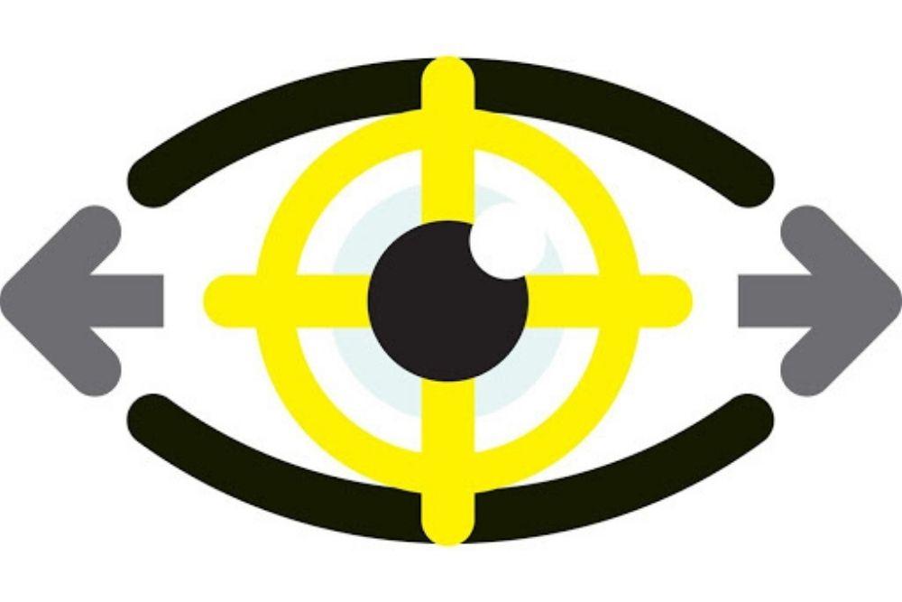 cartooned eye