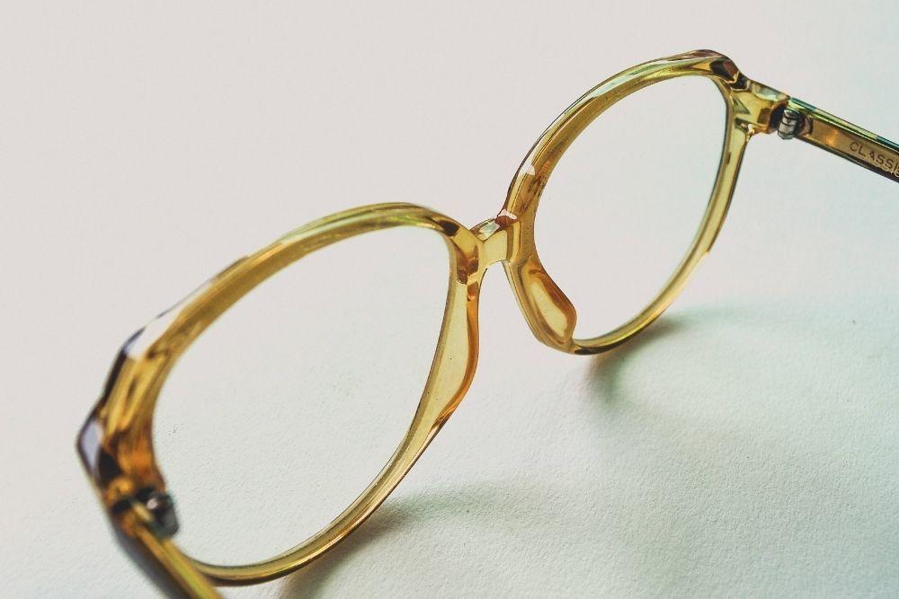 gold plated eyeglasses