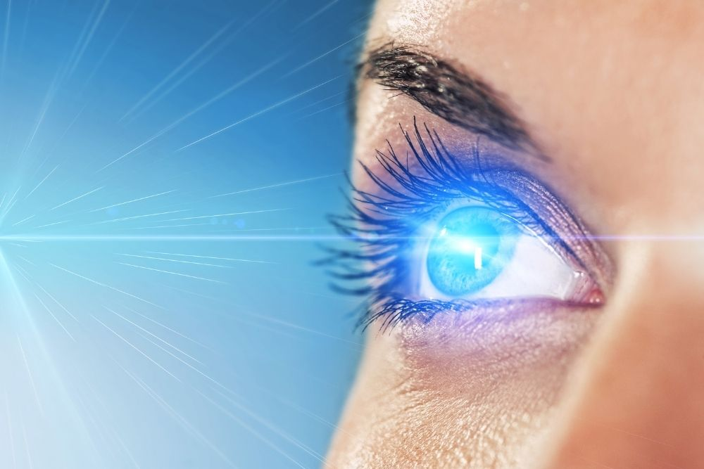 laser on eye